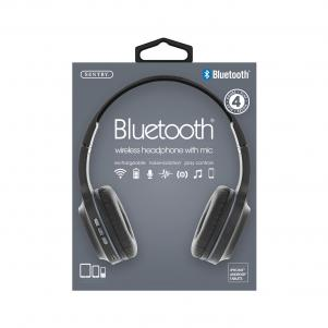 Industries BT105: Bluetooth Wireless Headphone With Mic Gray