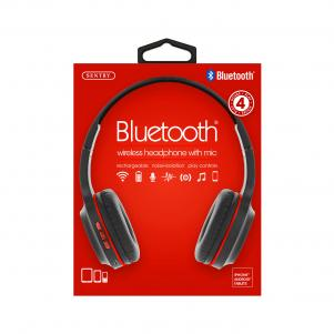 Industries BT105: Bluetooth Wireless Headphone With Mic Red