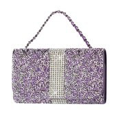 REIKO JEWELRY RHINESTONE PURSE WALLET CASE IPHONE6/ 6S/ 7 IN PURPLE (5.84X3.04X0.67 INCHES PLUS)