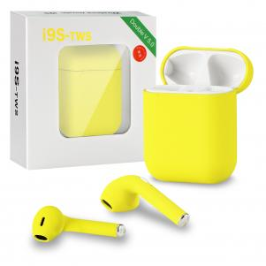 Wireless Headset Bluetooth 5.0 Headphones Stereo Twin Earbuds I9s-tws In Yellow