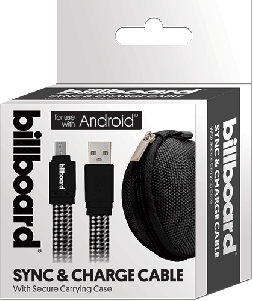 6' Micro USB Sync & Charge Cable Black