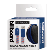 6' USB-C to USB-A Sync & Charge Cable Blue