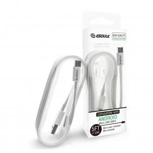 5ft micro USB MICRO USB DATA CHARGING CABLE  In White