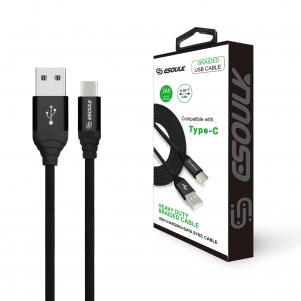 Canvas Cable 6.6ft  For Type-C In Black