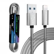 1.7A 10FT USB Cable For 8 PIN In Silver