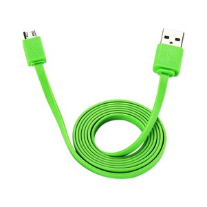 REIKO TANGLE FREE MICRO USB DATA CABLE 3.3FT IN GREEN