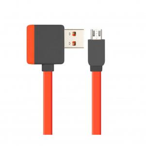 REIKO MICRO USB PIGGYBACK FLAT LIBERATOR USB CABLE 3.2FT IN RED