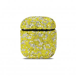 Reiko Case with Diamond for Airpods in Yellow