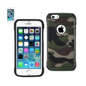 REIKO IPHONE 5C HYBRID LEATHER CAMOUFLAGE CASE IN GREEN