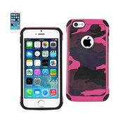 REIKO IPHONE 5C HYBRID LEATHER CAMOUFLAGE CASE IN PINK