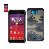 REIKO KYOCERA HYDRO WAVE HYBRID LEATHER CAMOUFLAGE CASE IN ARMY NAVY