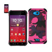 REIKO KYOCERA HYDRO WAVE HYBRID LEATHER CAMOUFLAGE CASE IN ARMY PINK