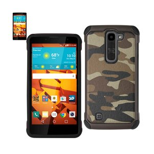 REIKO LG VOLT 2 HYBRID LEATHER CAMOUFLAGE CASE IN ARMY BROWN