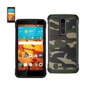 REIKO LG VOLT 2 HYBRID LEATHER CAMOUFLAGE CASE IN ARMY GREEN