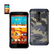 REIKO LG VOLT 2 HYBRID LEATHER CAMOUFLAGE CASE IN ARMY NAVY