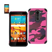 REIKO LG VOLT 2 HYBRID LEATHER CAMOUFLAGE CASE IN ARMY PINK