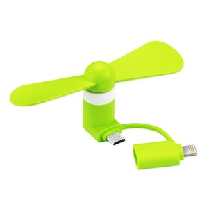 MINI FAN 2-IN-1 FOR IPHONE/ IPAD AND ANDROID IN GREEN