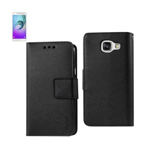 REIKO SAMSUNG GALACY A3 3-IN-1 WALLET CASE IN BLACK