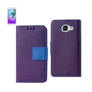 REIKO SAMSUNG GALACY A3 3-IN-1 WALLET CASE IN PURPLE