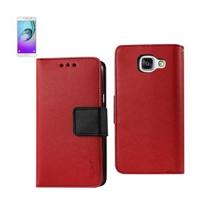 REIKO SAMSUNG GALACY A3 3-IN-1 WALLET CASE IN RED