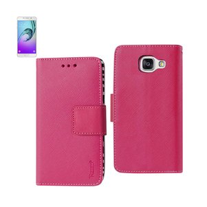 REIKO SAMSUNG GALAXY A7 (2016) 3-IN-1 WALLET CASE WITH INNER ZEBRA PRINT IN HOT PINK