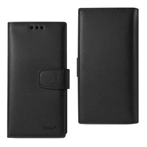 REIKO IPHONE 7 PLUS GENUINE LEATHER WALLET CASE WITH RFID CARD PROTECTION IN BLACK