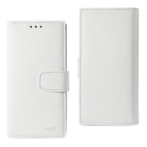 REIKO IPHONE 7 PLUS GENUINE LEATHER WALLET CASE WITH RFID CARD PROTECTION IN IVORY