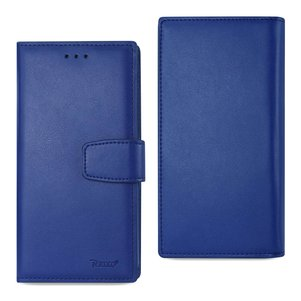 REIKO IPHONE 7 PLUS GENUINE LEATHER WALLET CASE WITH RFID CARD PROTECTION IN ULTRAMARINE