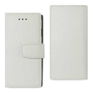 Reiko iPhone 7/8/SE2 Genuine Leather Wallet Case With RFID Card Protection In Ivory
