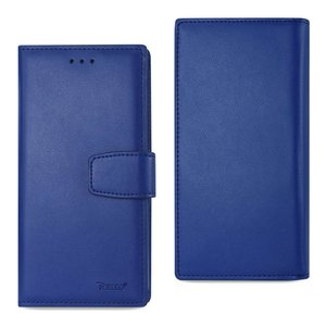 REIKO IPHONE 7 GENUINE LEATHER WALLET CASE WITH RFID CARD PROTECTION IN ULTRAMARINE