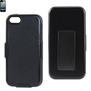 REIKO IPHONE SE/ 5S/ 5 HOLSTER COMBO CASE WITH KICKSTAND IN BLACK