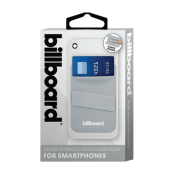 Billboard Adhesive Wallet/ Card Holder For Smartphones Gray