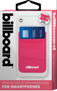 Adhesive Wallet/ Card Holder For Smartphones Pink