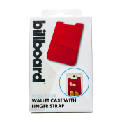 Adhesive Wallet/ Card Holder For Smartphones Red