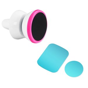 REIKO UNIVERSAL AIR VENT MAGNETIC CAR MOUNT PHONE HOLDER IN WHITE HOT PINK