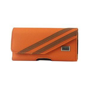 HORIZONTAL POUCH FOR SAMSUNG GALAXY S III I9300 TWILL PATTER ORANGE (5.78X3.15X0.71 INCHES)