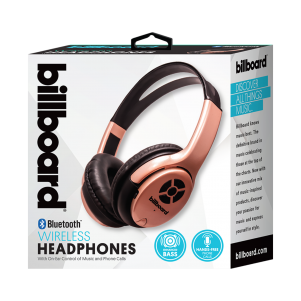 Wireless Headphones - Rose Gold/Pink