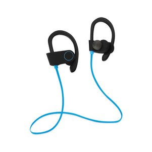 UNIVERSAL HD WIRELESS SPORT HEADPHONE WITH IN-EAR EARBUDS AND SWEATPROOF BLUE