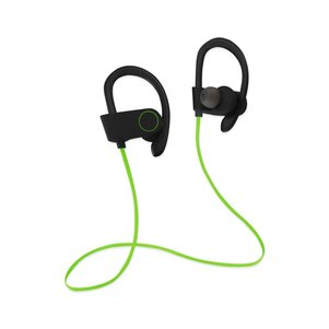 UNIVERSAL HD WIRELESS SPORT HEADPHONE WITH IN-EAR EARBUDS AND SWEATPROOF GREEN