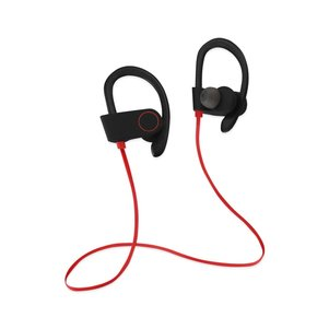 UNIVERSAL HD WIRELESS SPORT HEADPHONE WITH IN-EAR EARBUDS AND SWEATPROOF RED