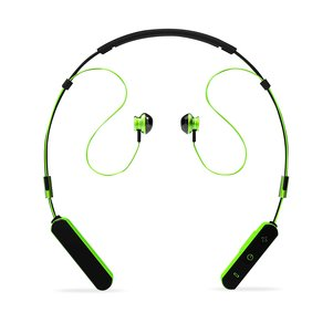 Neck Band Sport Bluetooth Earphones in Black and Green