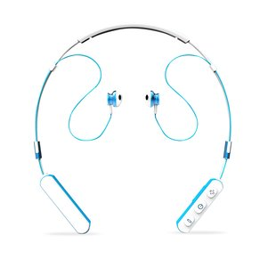 Neck Band Sport Bluetooth Earphones in White  and Blue