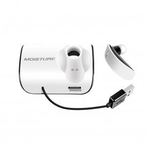 Moisture MT-B20 Bluetooth Earphones With Charger Adapter For Car In White