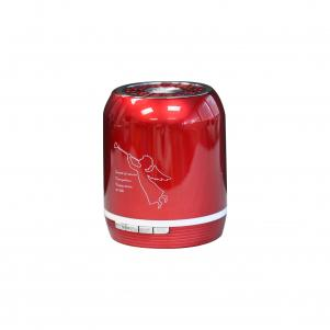 Portable USB FM Radio Bluethooth Speaker Music Player In Red