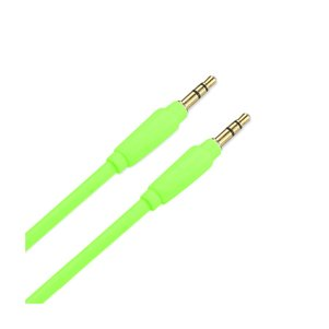 REIKO STEREO MALE TO MALE AUDIO CABLE 3.2FT IN GREEN