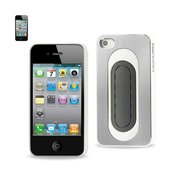 REIKO IPHONE 4/4S ALUMINUM CASE WITH BEND BACK KICKSTAND IN WHITE