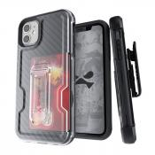 Iron Armor3  Black  Rugged Case + Holster with tempered glass for Apple iPhone 11