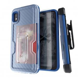 Iron Armor 3 Blue Rugged Case + Holster with tempered glass  for Samsung Galaxy A10e