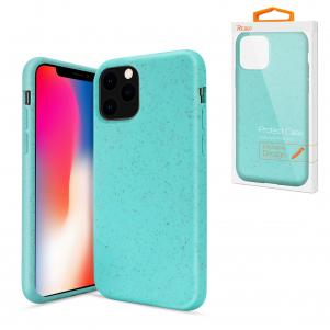 Reiko APPLE IPHONE 11 PRO MAX Wheat Bran Material Silicone Phone Case In Blue
