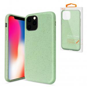 Reiko APPLE IPHONE 11 PRO MAX Wheat Bran Material Silicone Phone Case In Green